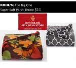 The Big One Super Soft Plush Throw Only $11.20 after Kohl's Discount! {Regularly $39.99} ~Ends 12/24