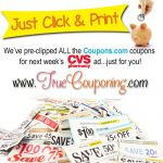 Pre-Clipped CVS Printable Coupons (for the Sunday Sneak Peek)