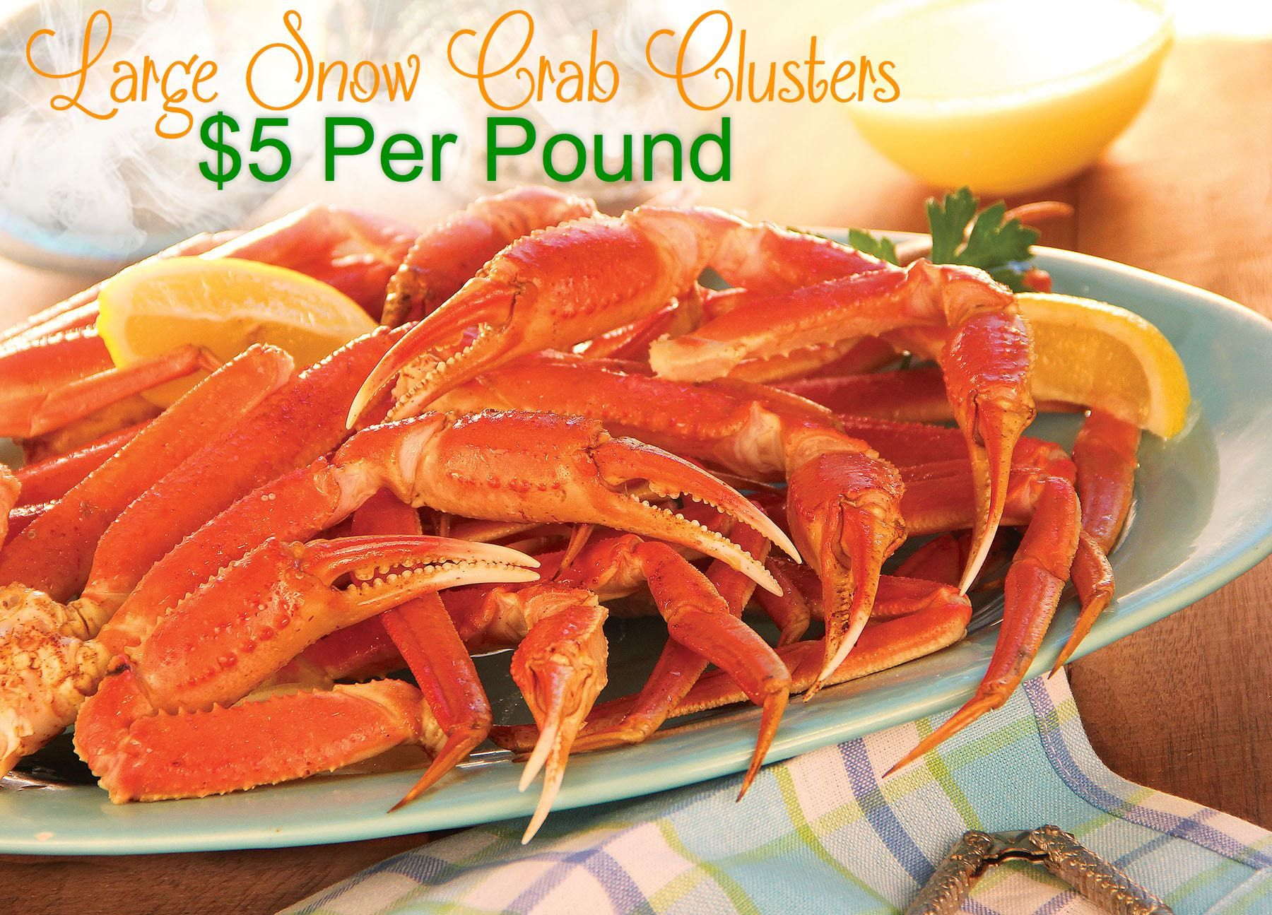 winn dixie large snow crab clusters 5 per pound with 30