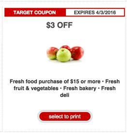 Target Produce Coupon