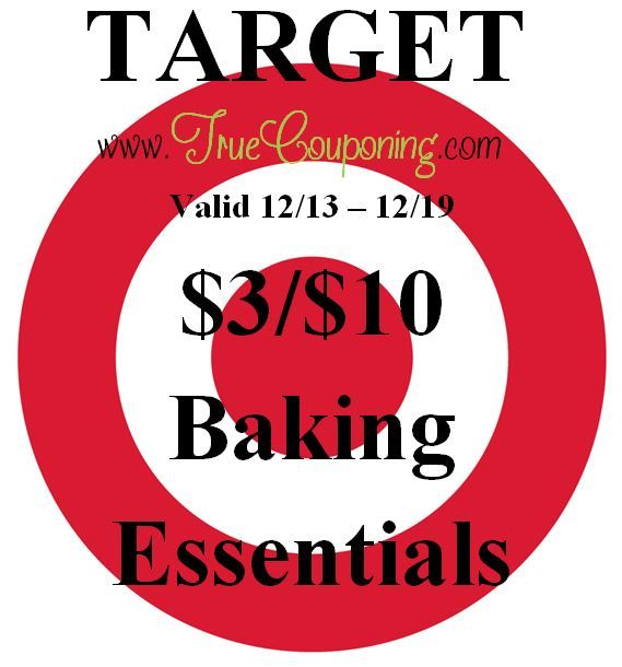 Special Coupons in 12/13 Sunday Newspaper: Target $3/$10 Baking Essentials