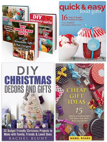 4 FREE eBooks:  DIY Christmas Gift Ideas