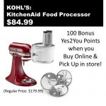 KitchenAid Food Processor Attachment Only $84.99 after $20 Kohl's Cash! {Regularly $179.99} ~Ends 12/24