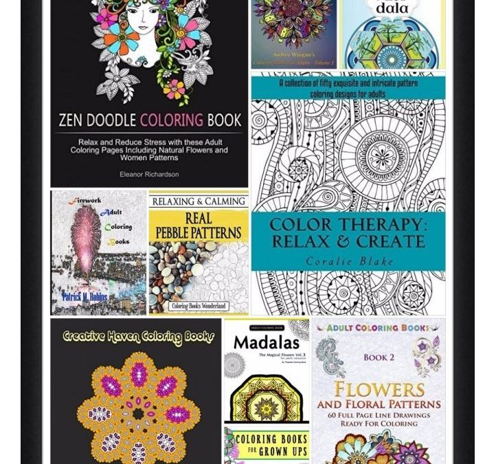 10 FREE eBooks:  Coloring Books for Adults