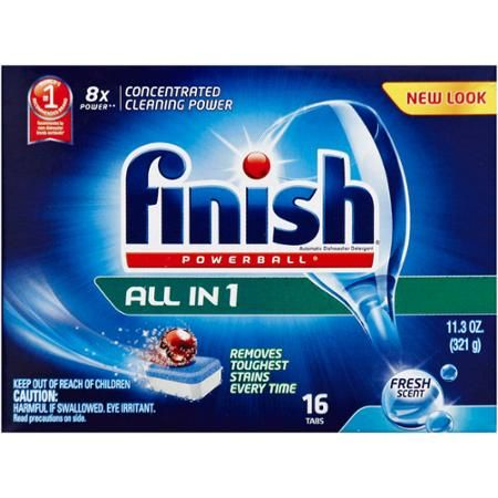 Finish Powerball All in 1 Fresh Scent Automatic Dishwasher Detergent Tabs, 16 count, 11.3 oz