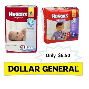 Dollar General: Huggies Jumbo Diapers $6.50 Each! ~Ends 1/9!