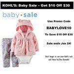 Kohl's Baby Sale ~ Big, BIG Savings! ~Ends 1/24