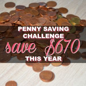 Penny Saving Challenge – Save $670 This Year Collecting Pennies!