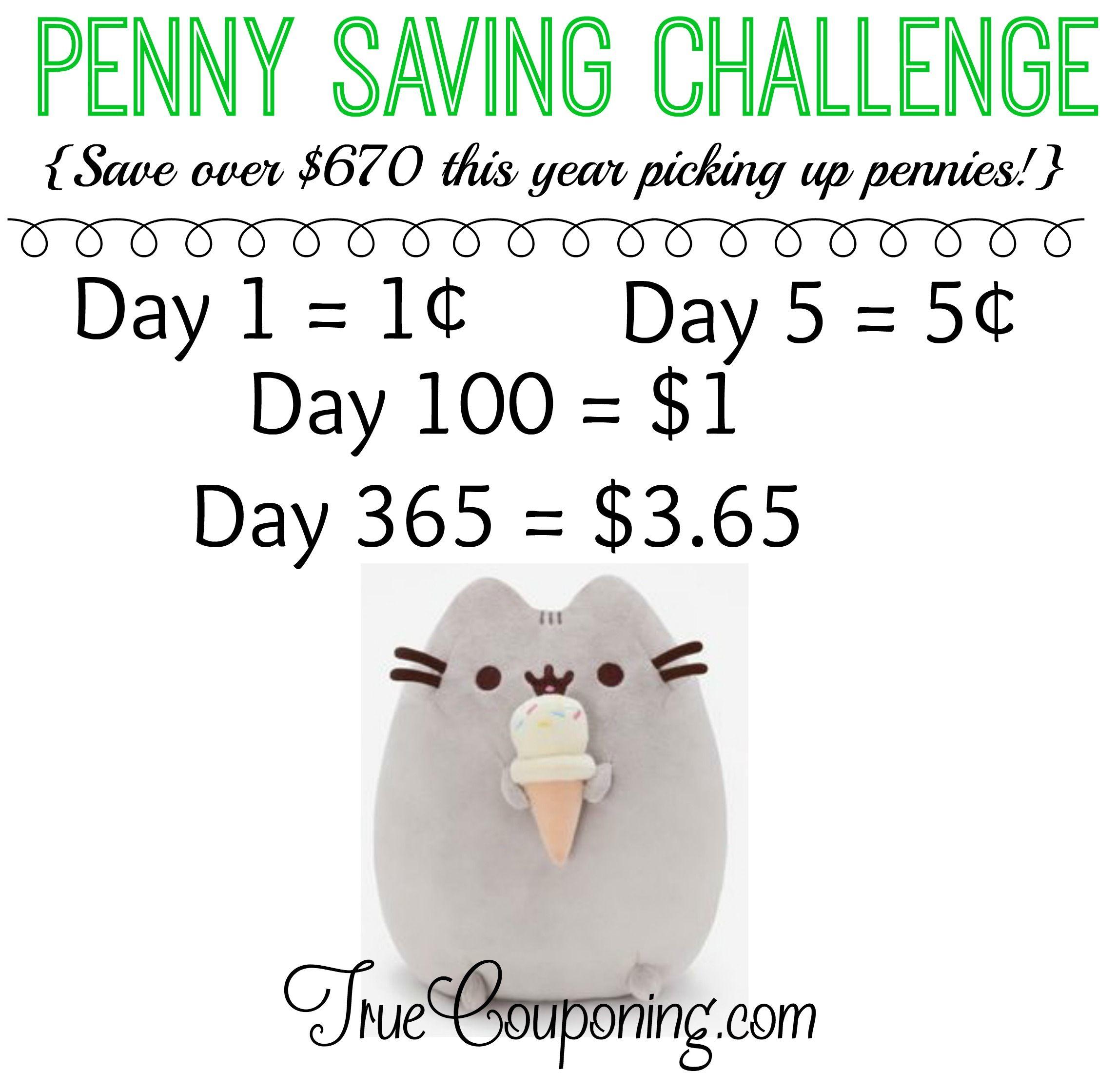 Penny Saving Challenge Jar Label