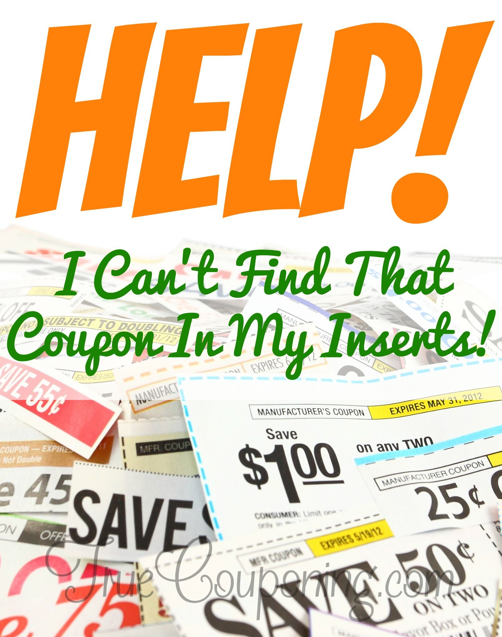 Help! I Can't Find a Coupon in My Coupon Insert!