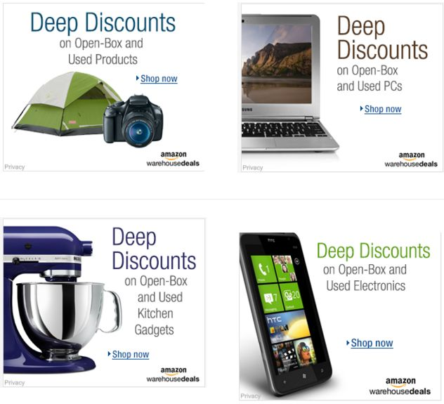 Save Up to 80% on Warehouse Deals! Find Deep Discounts on Open-Box and Used Products!