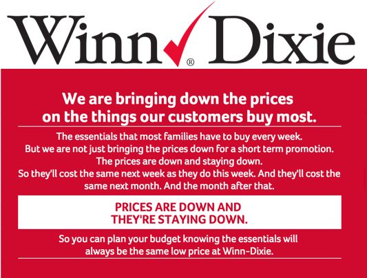 Winn Dixie New Pricing Structure 2