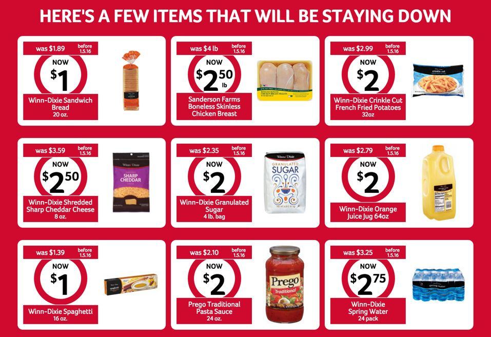 Winn Dixie New Pricing Structure