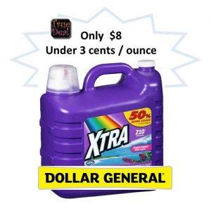 Dollar General: SUPER CHEAP Xtra Liquid Laundry Detergent {HUGE 315 oz Jug}! ~Ends 1/9!