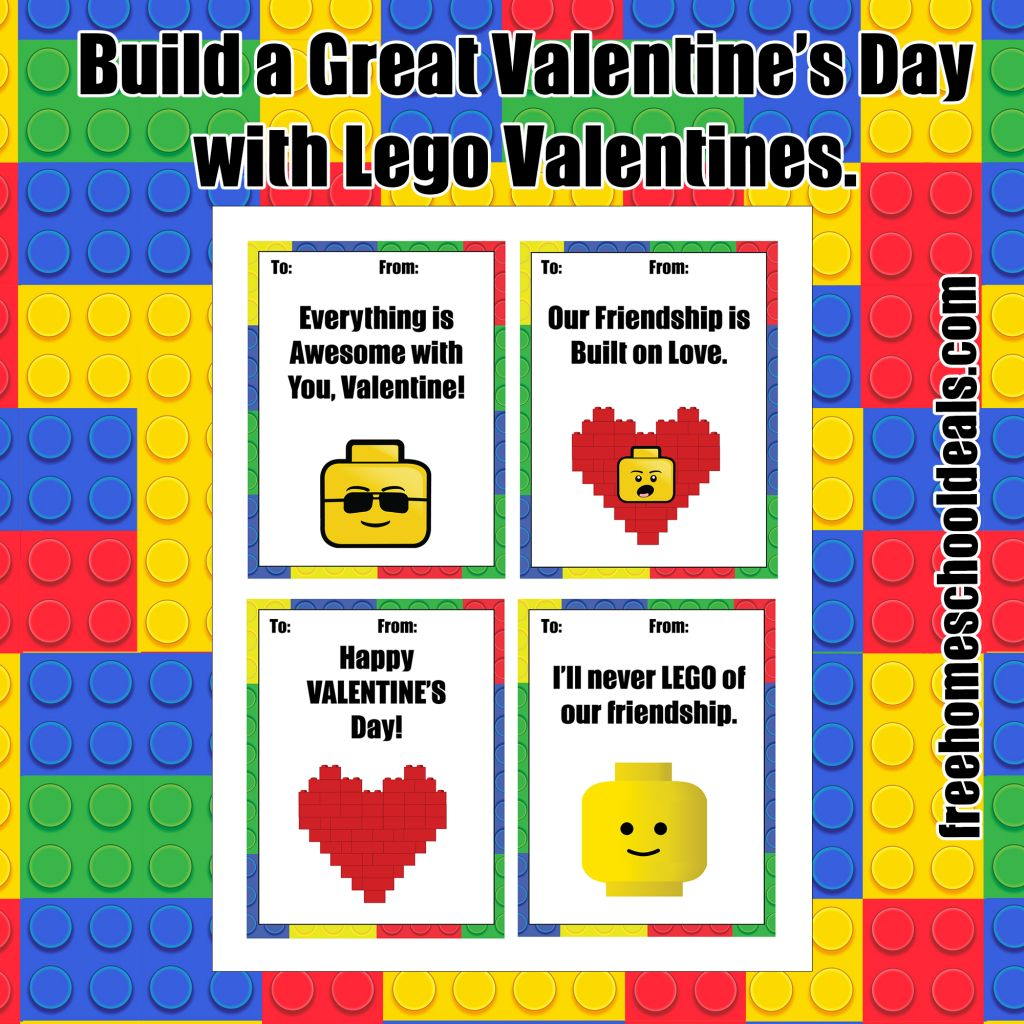 free lego valentines day printables