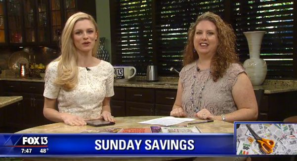 {Video Replay} Fox 13 Savings Segment ~ Five Fantastic Food Freebies!