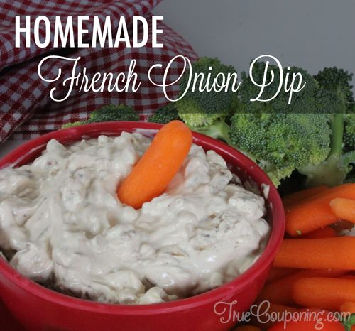 Homemade French Onion Dip Recipe Featured