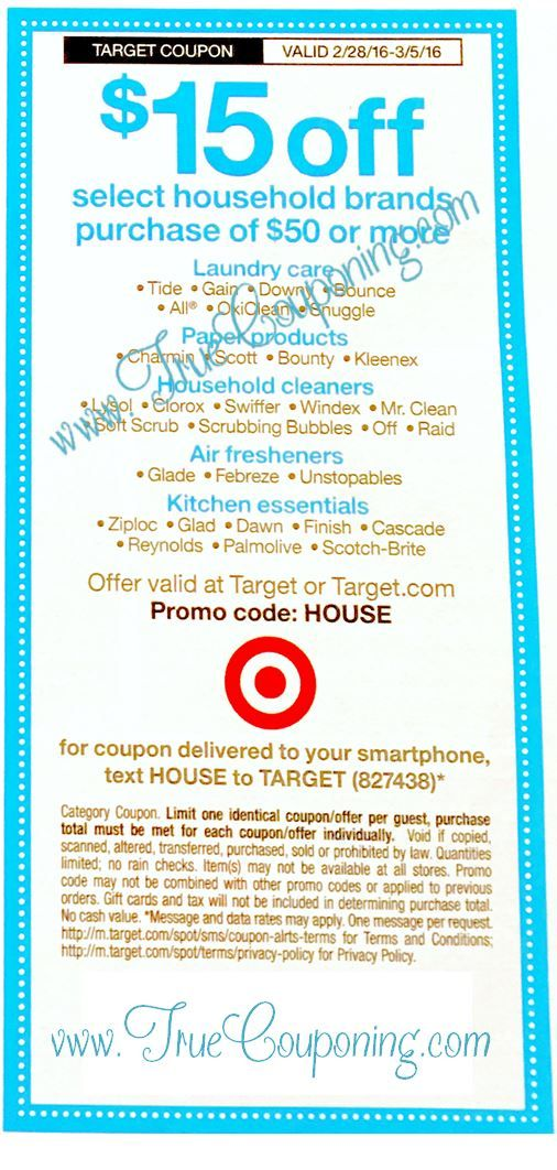 {REMINDER} Saturday is the Last Day to use the Target $15/$50+ Household & Publix $5/$40+ Coupon!