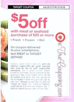 {REMINDER} Saturday is the Last Day to use the Target $5/$25+ Meat Purchase & $5/$25+ or $10/$35+ Women's Accessories!