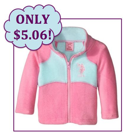 Save 90% on Baby Girl Fleece Jacket! Ships FREE with Prime