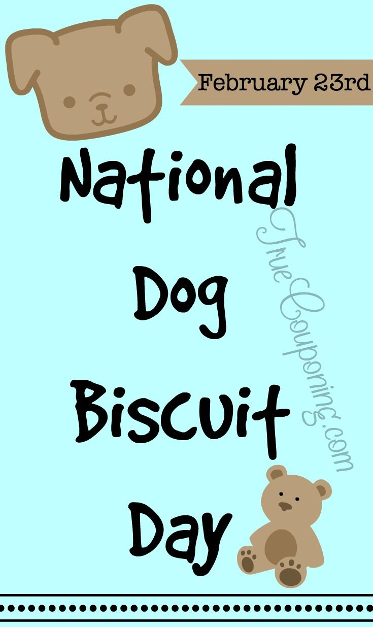 Today is National Dog Biscuit Day ~ Tuesday, February 23, 2016!