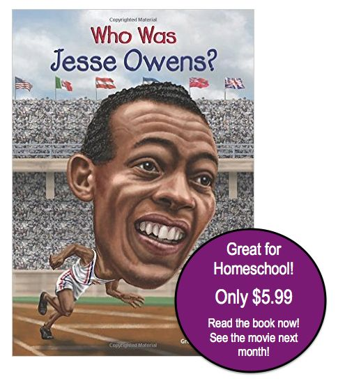 """Who was Jesse Owens"" Book just $5.99! Ships FREE with Prime"