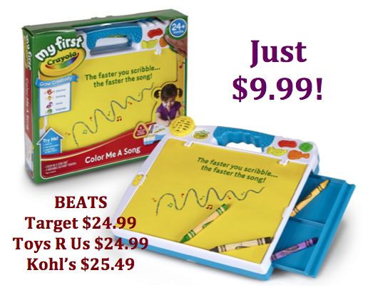 My First Crayola Color Me a Song $9.99 {reg price $24.99}!