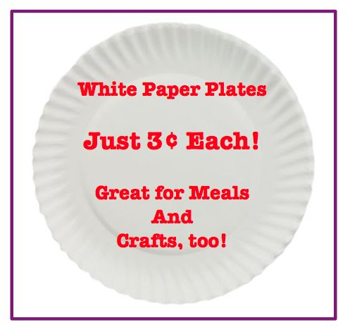 Basic White Paper Plates 9″ Pack of 1200 just $35.46! That's $0.03 EACH!
