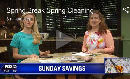 {Video Replay} Fox 13 Savings Segment ~ Spring Cleaning Your Way to Cash!
