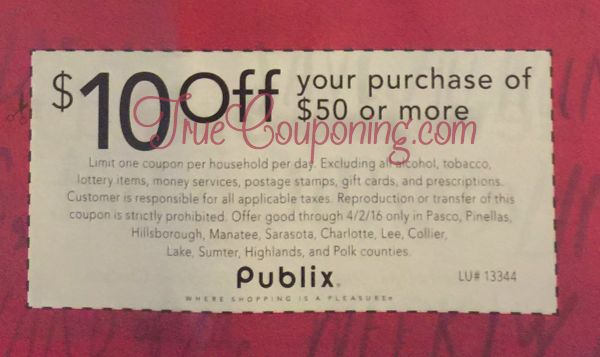 Don't Miss The $10 Special Publix Coupon In Sunday's Paper! {Select FL Counties}