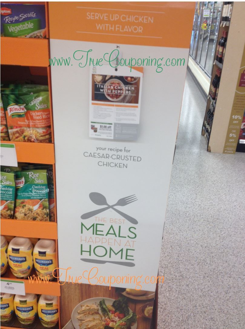 "Publix ""The Best Meals Happen At Home"" Coupon Display"