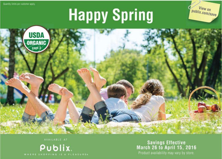 Publix Green Grocery Advantage Flyer 3 26 4 15
