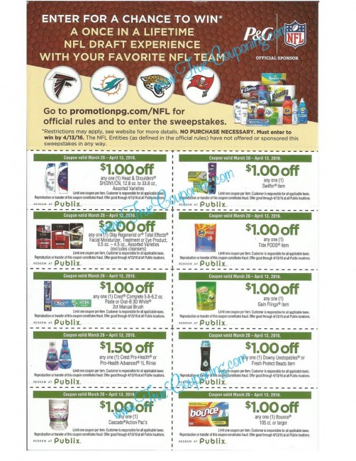 "Publix ""Tackle Everything"" Coupon Sheet & Vip Experience"