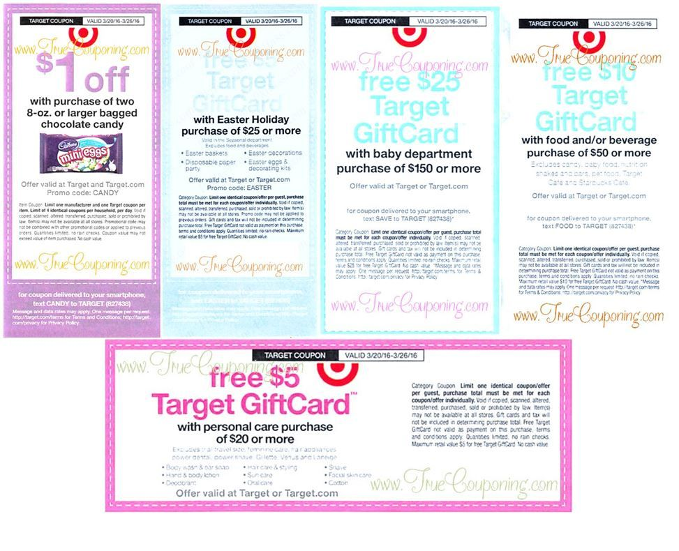 {REMINDER} Saturday is the Last Day to use the FIVE Target Coupons on Candy, Easter, Baby, Personal Care & Food/Beverage!