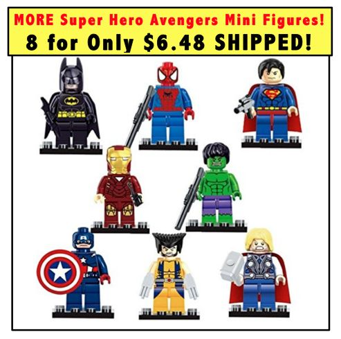 SUPER HEROES Avengers Mini Figures Set of 8 just $6.48 SHIPPED!