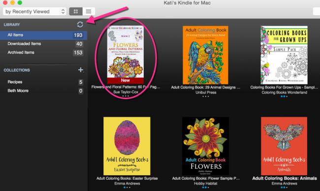 Kati's Kindle for Mac
