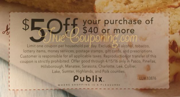 Special Publix Coupon Coming THIS Sunday 4/10! (Select FL Counties)