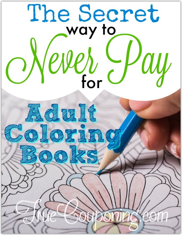 Secret Never Pay Adult Coloring Books Shadow