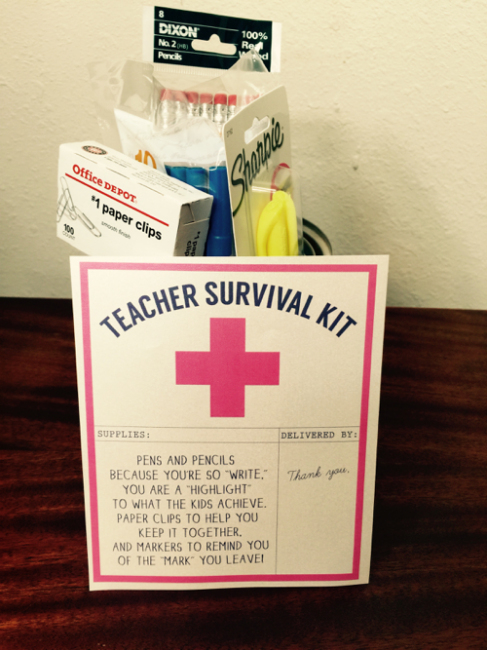 Teacher Appreciation Week Survival Kit Gift