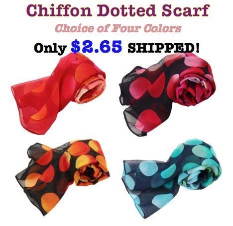 chiffon dotted scarf