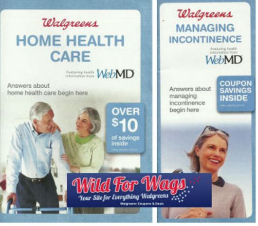 Incontinence and Home Health Care booklets Walgreens