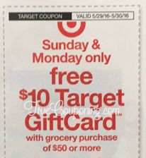 Last Day to Use the Target $10 GiftCard wyb $50 in Sunday's Weekly Ad! {Can be used at some Publix & Winn Dixie!}