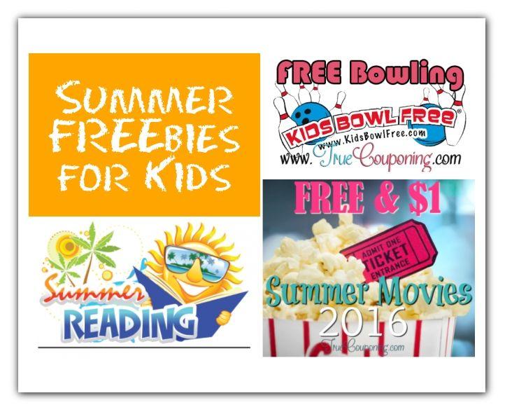 summer freebies for kids 5-12