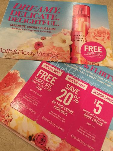 FREE Bath & Body Works Coupons 1