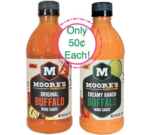 Fox Deal of the Week! Moore's Wing Sauce Only $.48 each Bottle!!