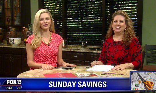 {Video Replay} Fox 13 Savings Segment ~ Ways to Find Coupons Without A Newspaper!