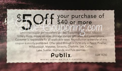 SURPRISE! Special $5 Off $40 Publix Coupon In Today's Newspaper! {Select FL Counties}