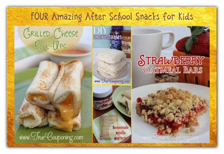 FOUR Amazing After School Snacks for Kids!
