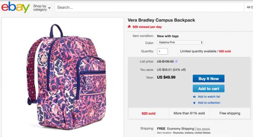 Ebay Backpack Deal