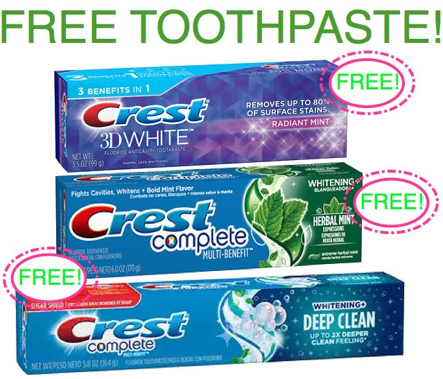 Fox Deal of the Week! FREE Crest 3D White or Complete Toothpaste!!